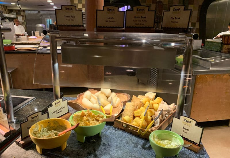 Boma bread on buffet
