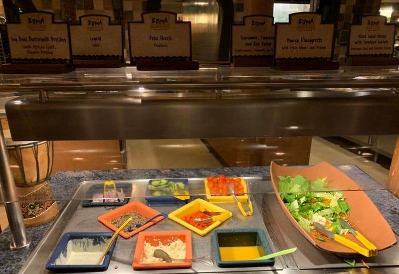 Boma Salad Buffet Section