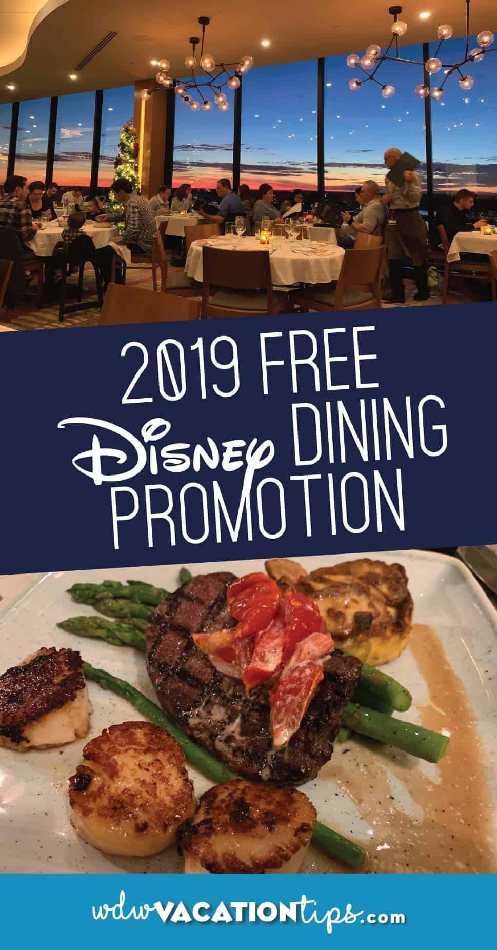 Disney World Free Disney Dining Plan Promotion 1