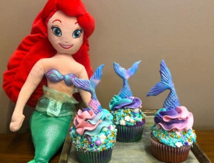 Airel Mermaid Cupcakes