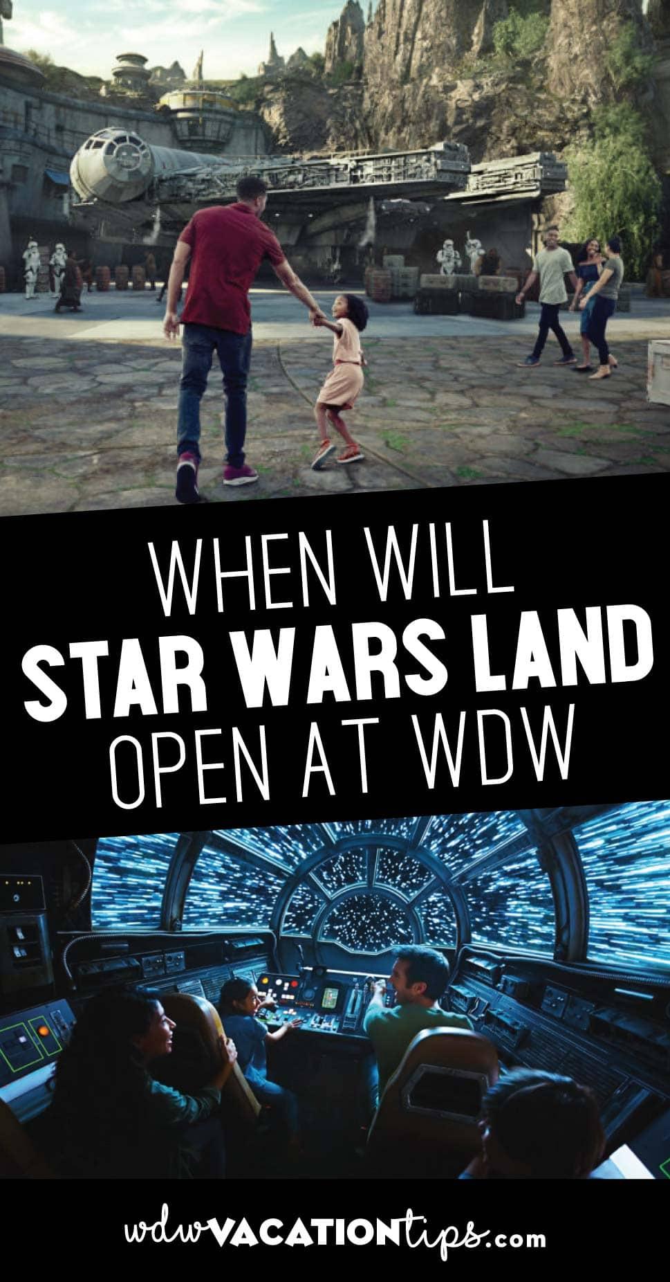 When will star wars land open