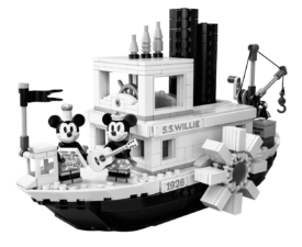 NEW! Disney Collectors Steamboat Willie Lego
