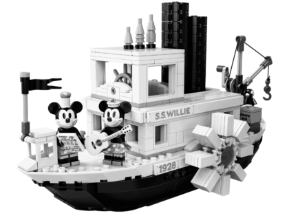 NEW! Disney Collectors Steamboat Willie Lego 8