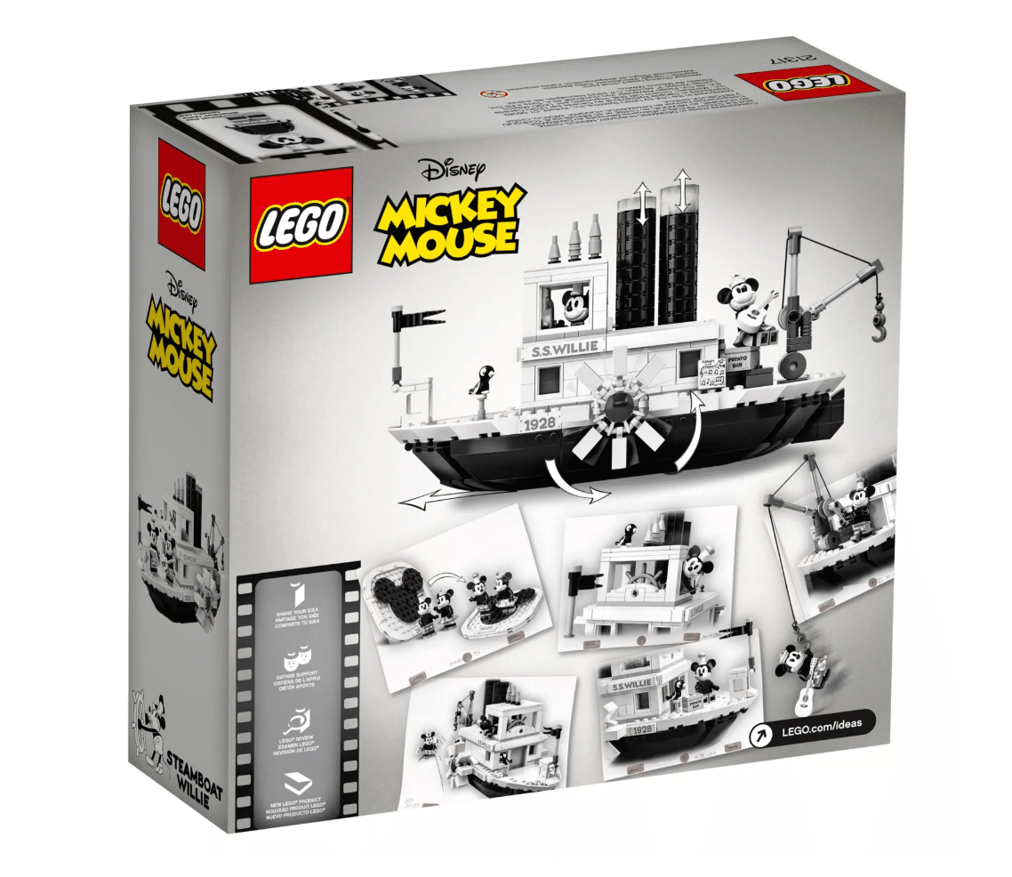 NEW! Disney Collectors Steamboat Willie Lego 10