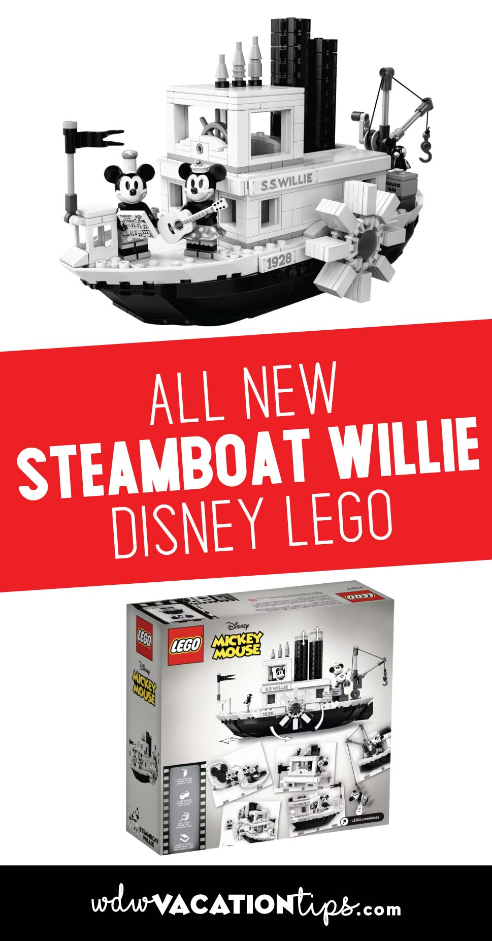 Disney Steamboat Willie Lego