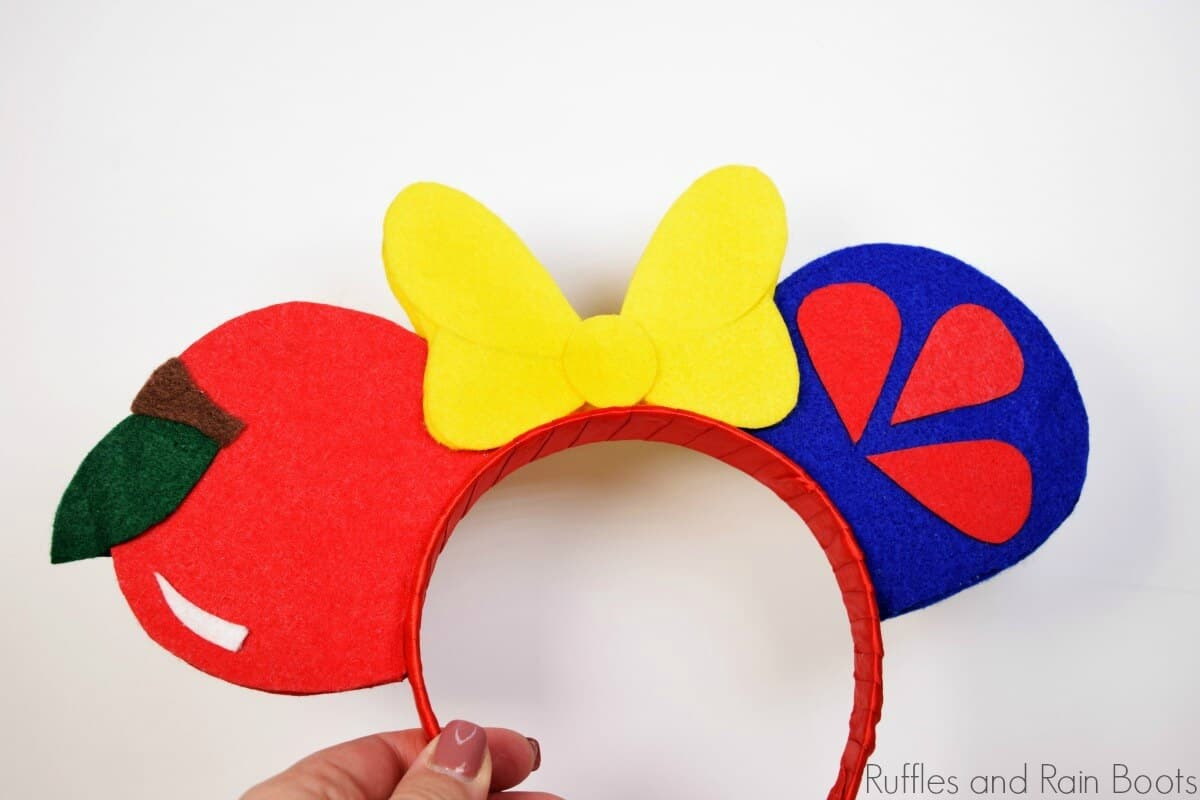 No Sew Snow White Ears