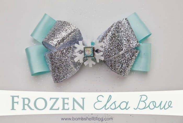 DIY Frozen Elsa Bow