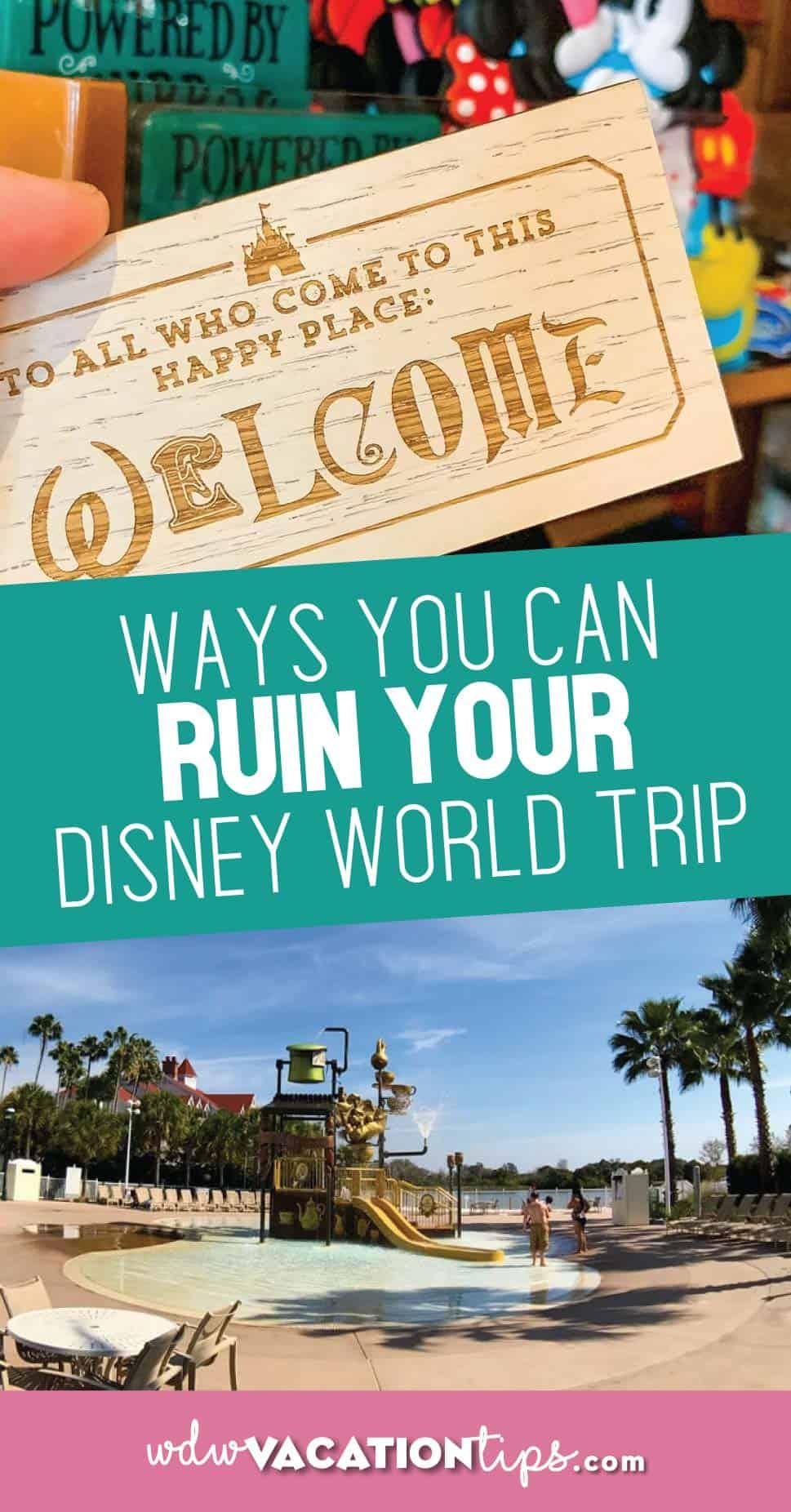 Ruin disney world vacation