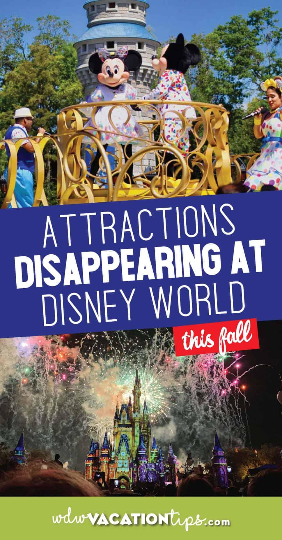 Rides Disappearing this Fall at Disney World
