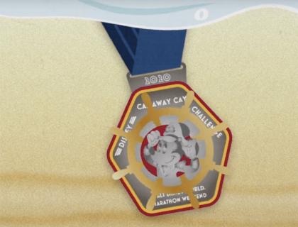 RunDisney Castaway Challenge Medal