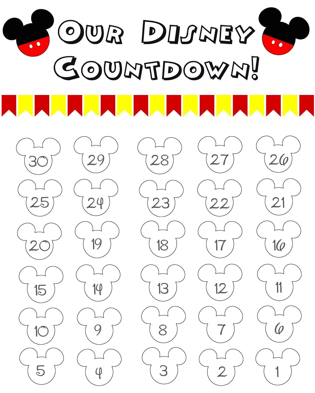 Great Ways to Countdown the Days to Your Disney World Vacation 1