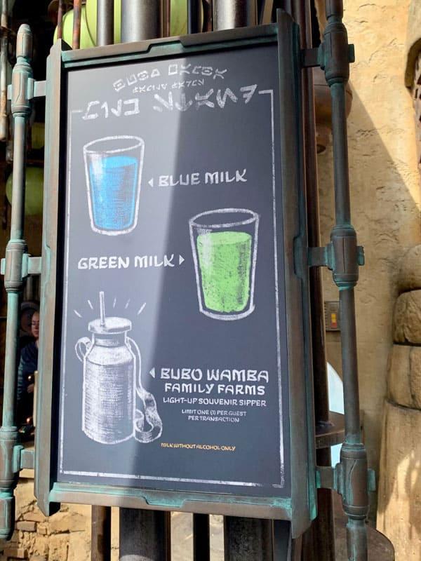 Blue Milk and Green Milk at Star Wars Galaxy's Edge 10