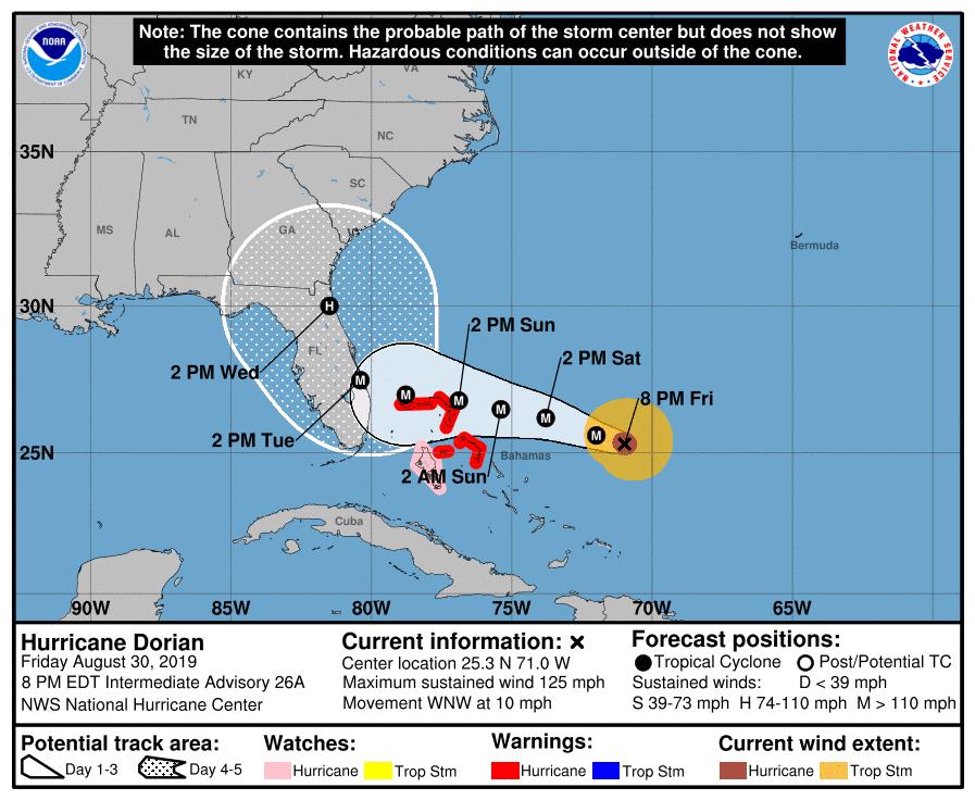 Disney World Closures for Hurricane Dorian 1