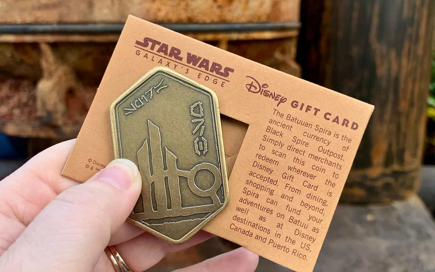 Star Wars Galaxy's Edge Gift Card Batuuan Spira • WDW