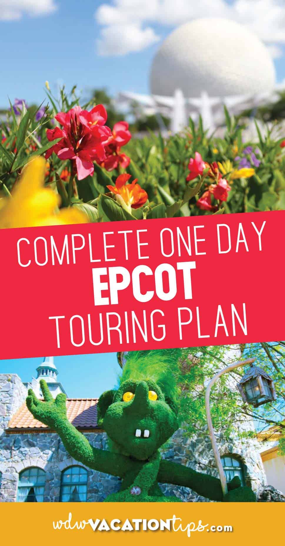 One Day Epcot Touring Plan: Explore and Discover Everything in One Visit 1
