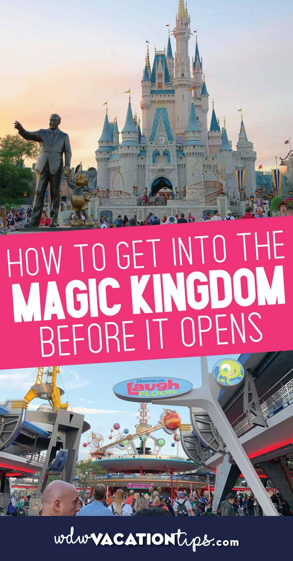 Magic Kingdom before it Opens