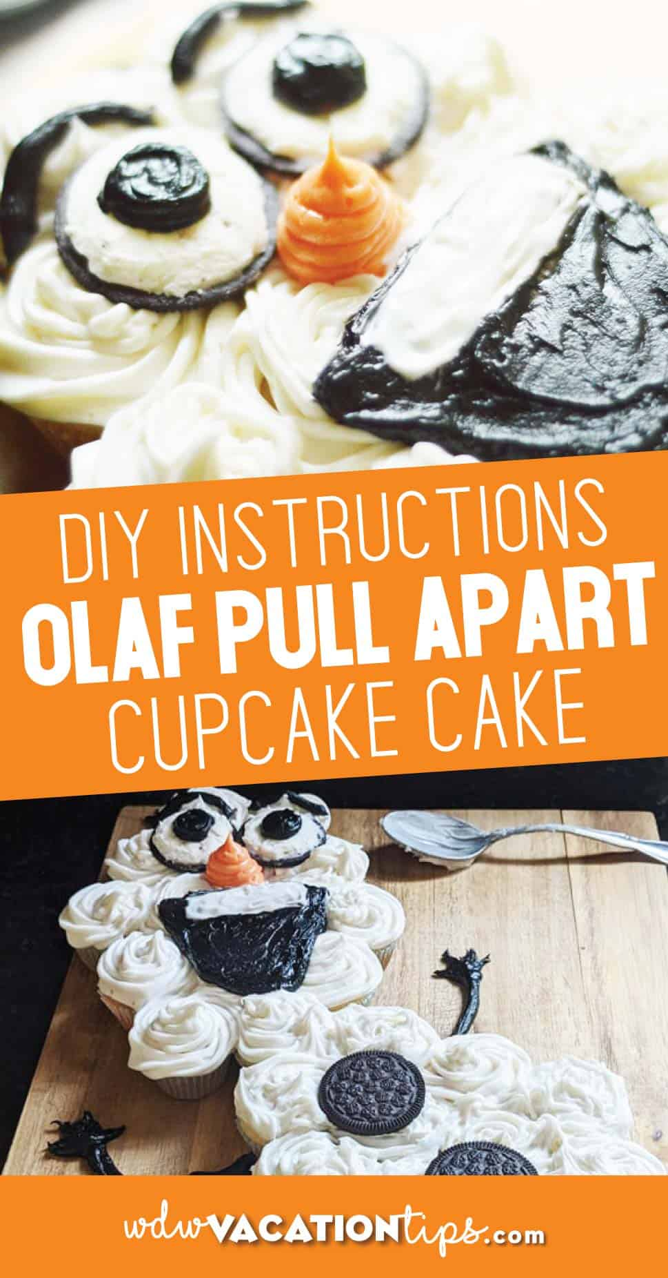 Olaf Pull Apart Cupcake Cake