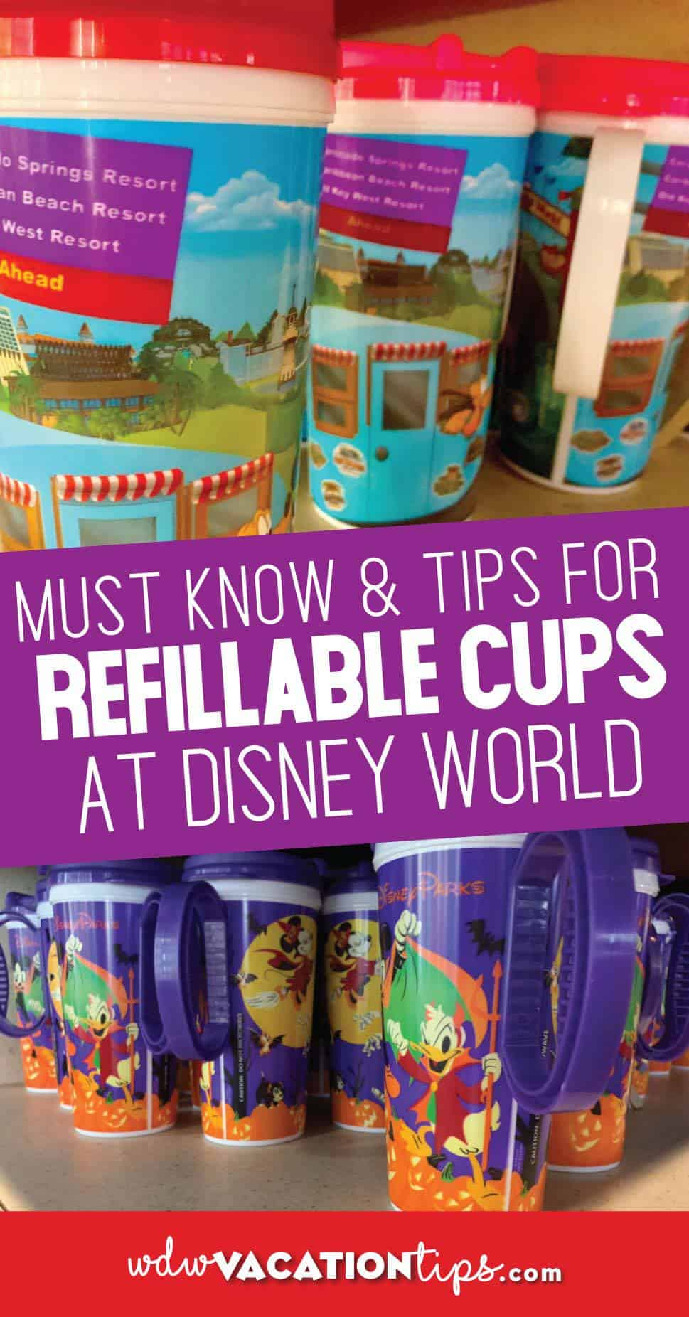 Disney World Refillable Cups
