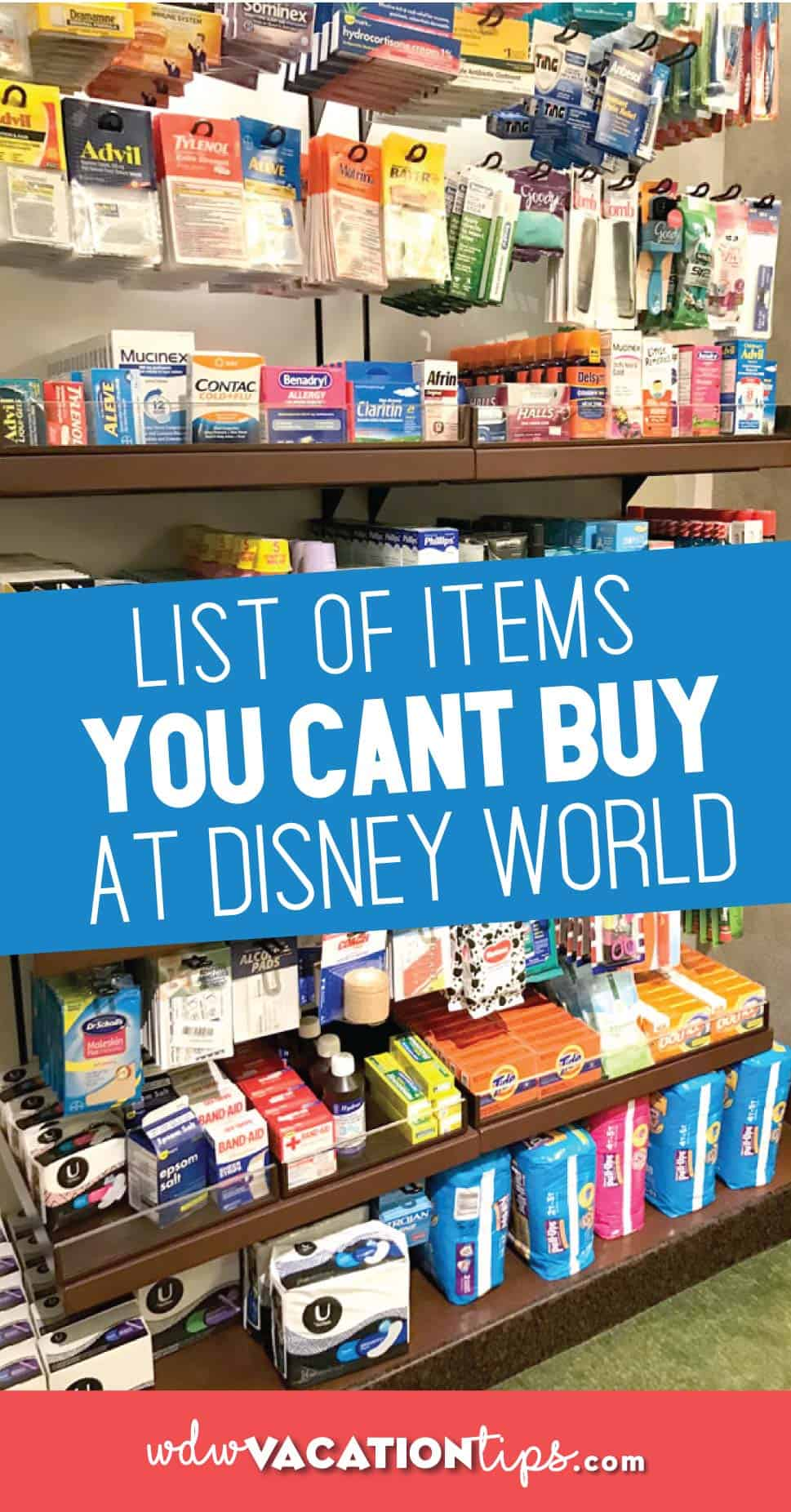 Things you can't buy at disney world
