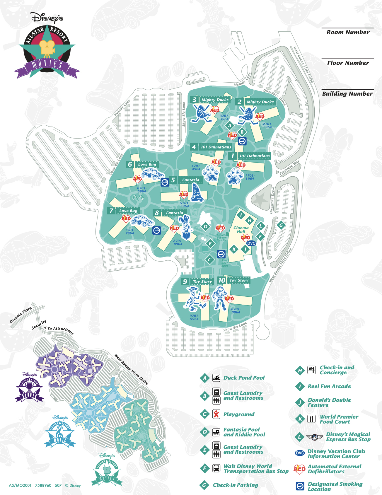 All Star Resort Movies Map