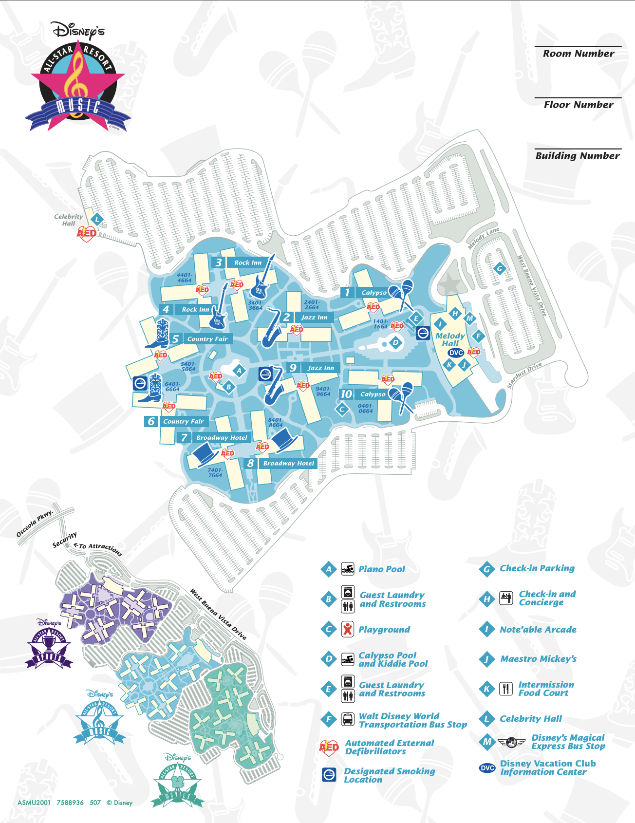 All-Star Music Resort Map