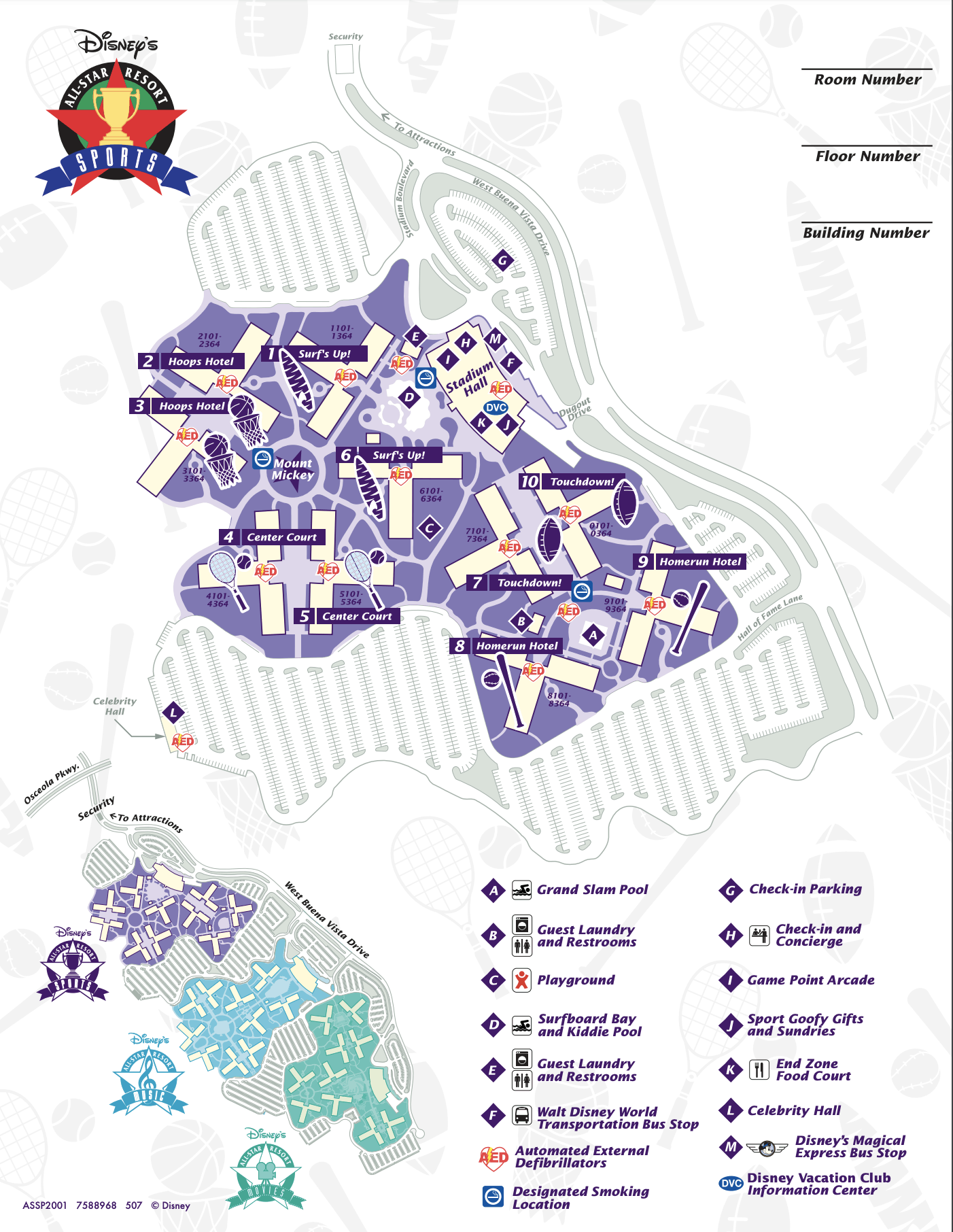 All-Star Sports Resort Map 3