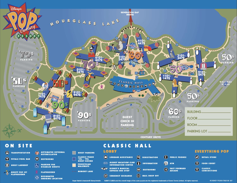 Disney Pop Century Resort Map