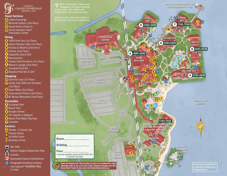 Disney's Grand Floridian Resort Map 3