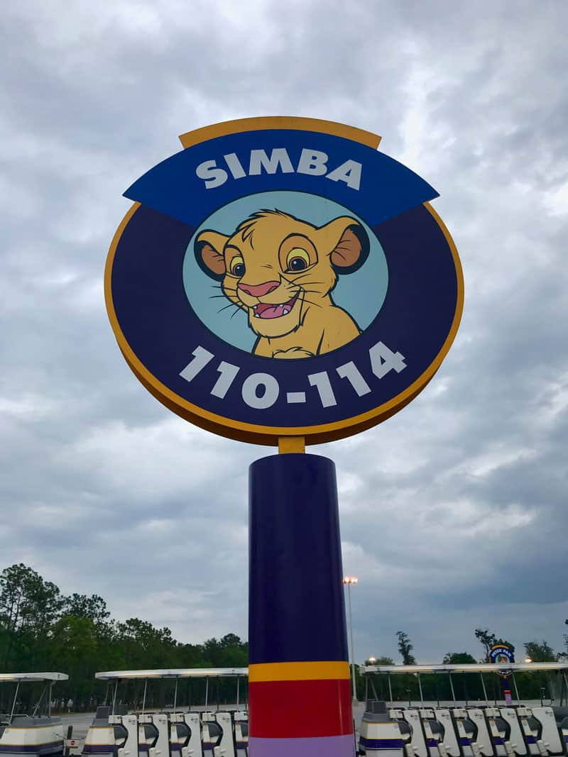 Magic Kingdom Parking Simba lot