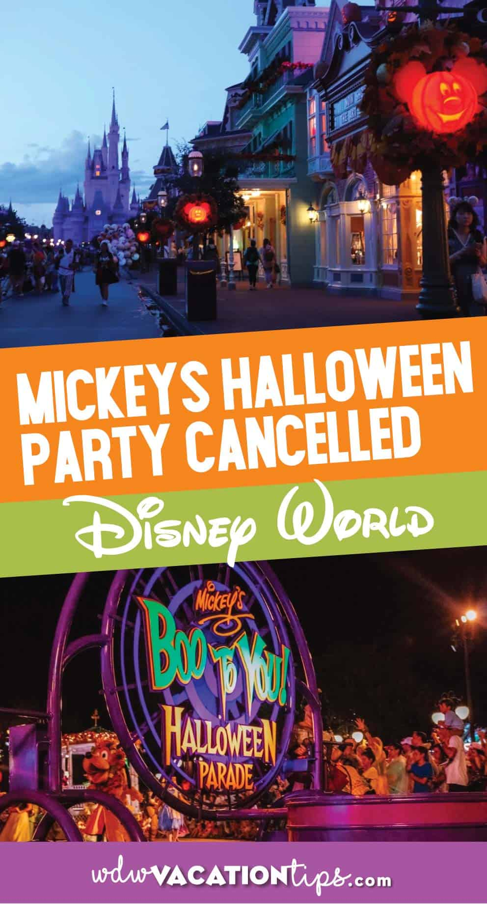 Mickey's Not So Scary Halloween Party Cancelled 5