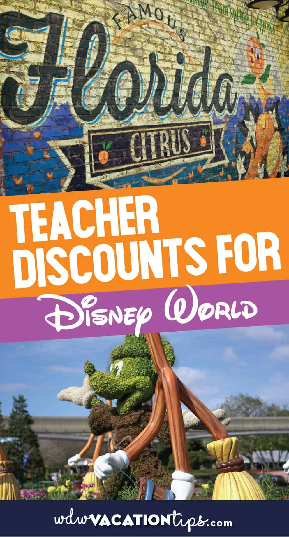 Teacher discounts at Disney World
