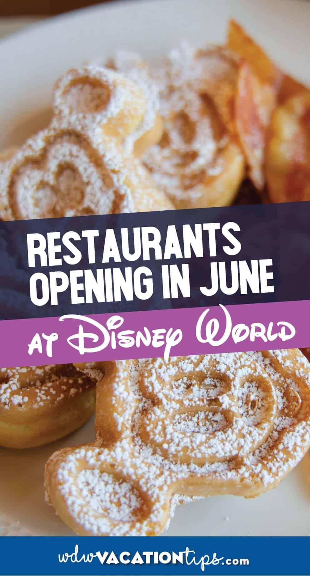 Disney Resort Restaurants Reopening in June 5