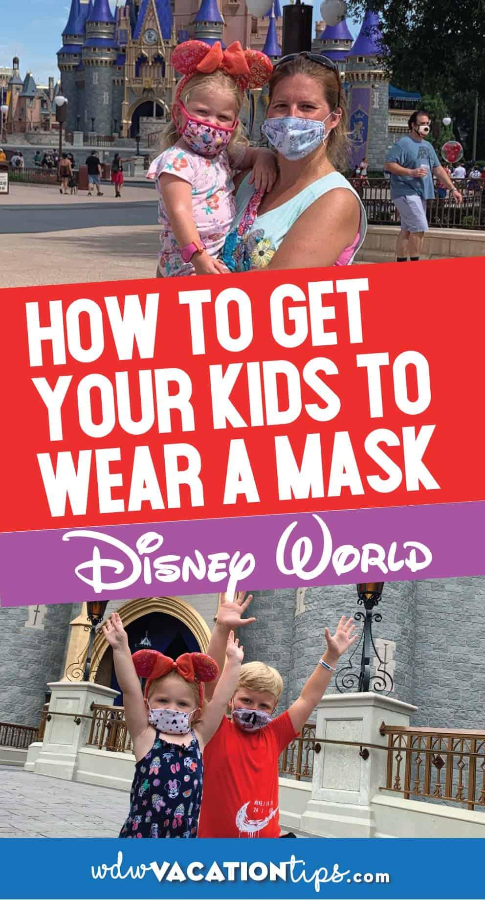 Kids wear a mask at wdw