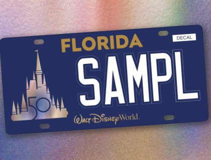 First Ever Walt Disney World License Plate 6