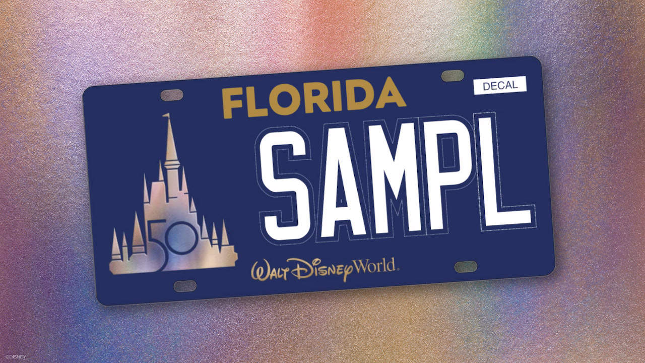 First Ever Walt Disney World License Plate 3