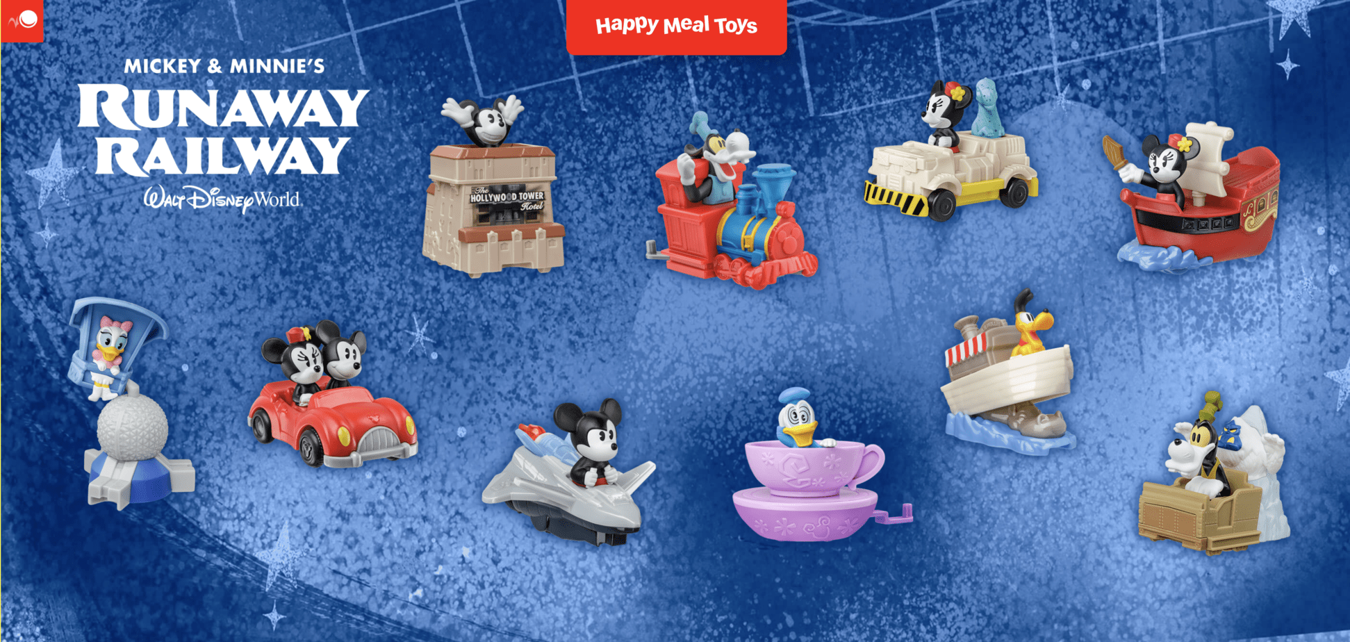 McDonald's Release Disney Attraction Happy Meal Toys 3