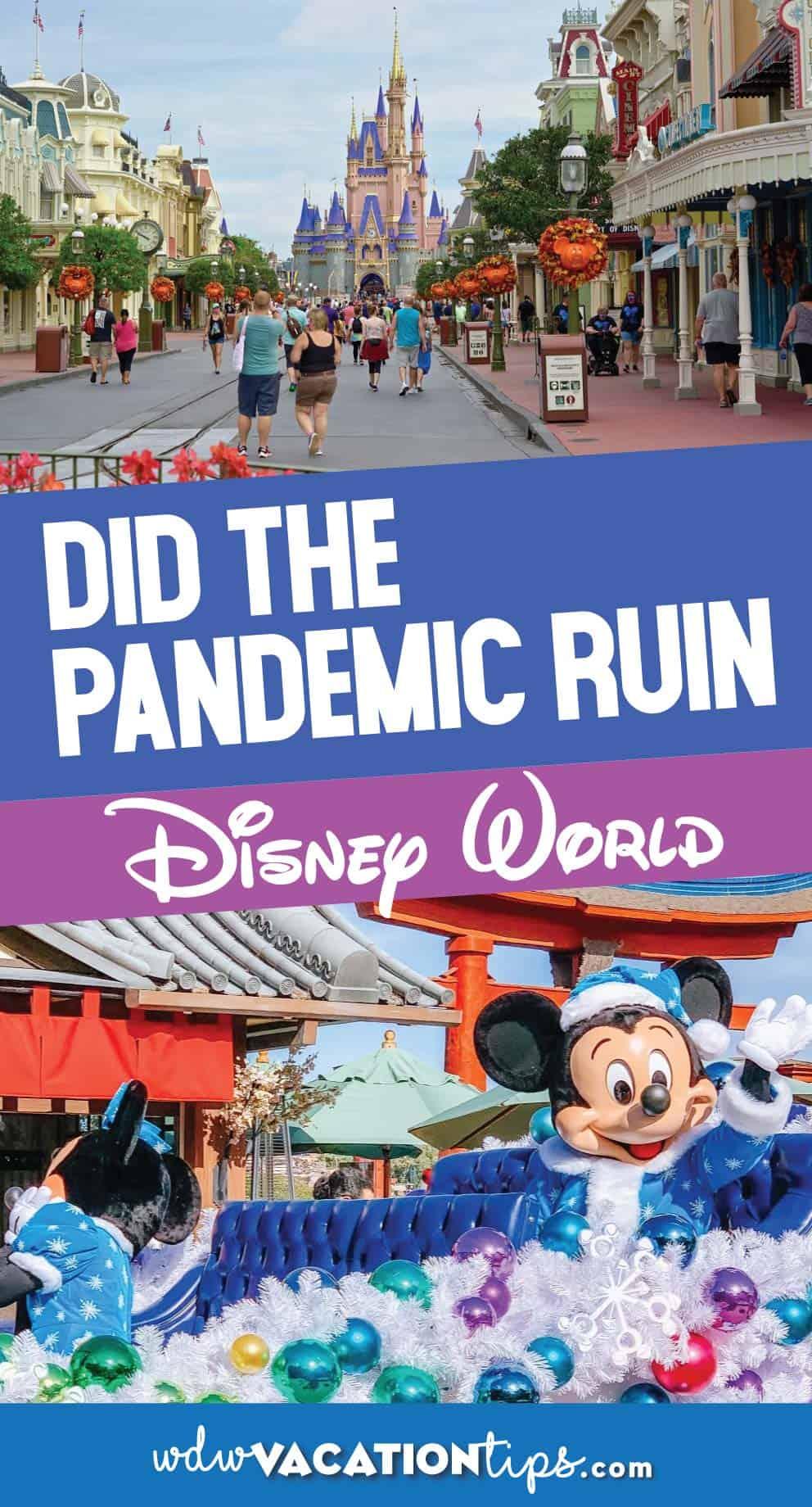 Pandemic Ruin Disney World