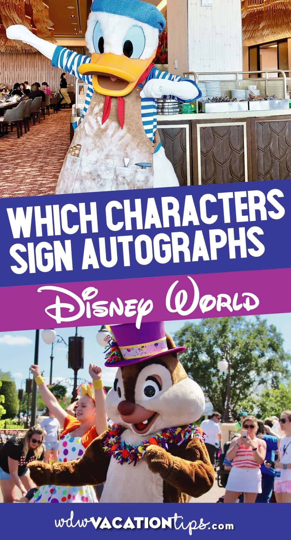 Which Characters Sign Autographs at Disney? 1