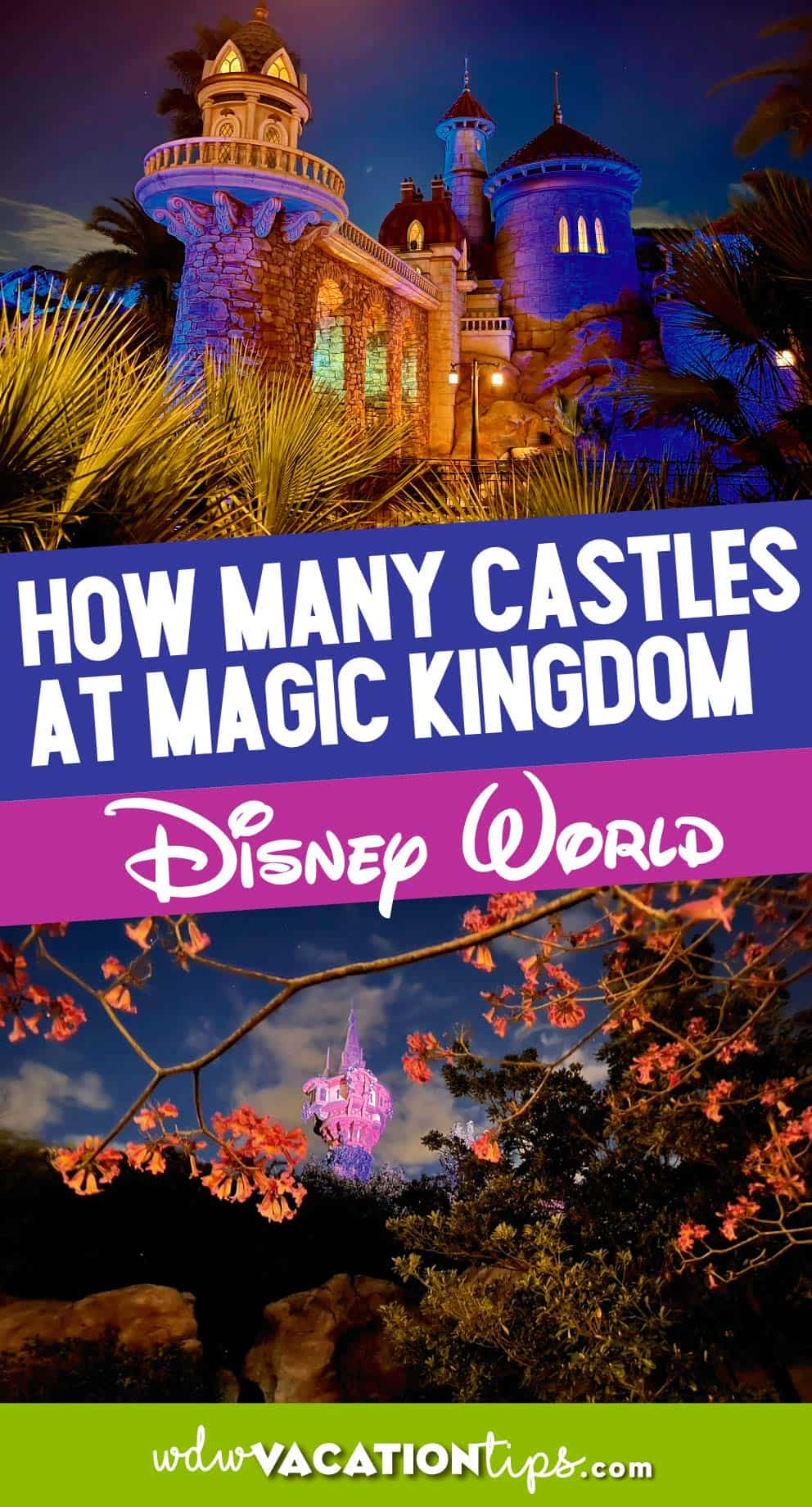 How many castles are at the magic kingdom