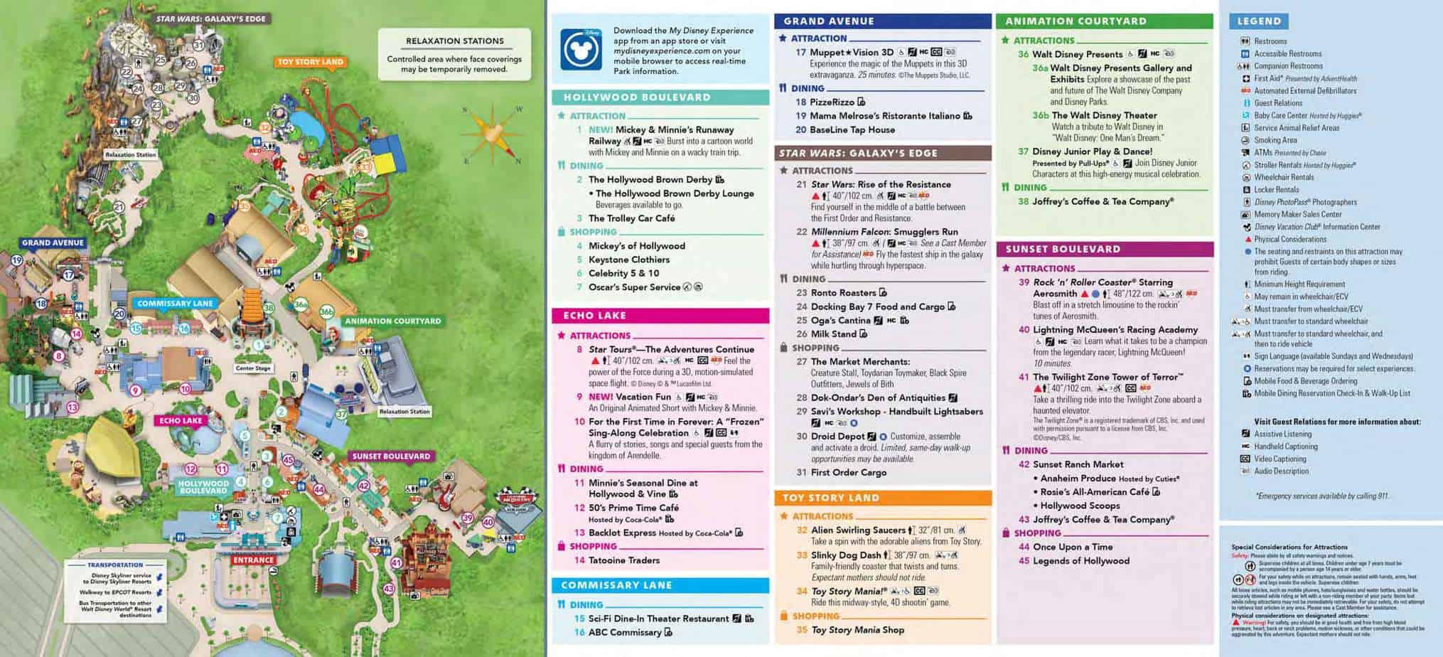 Hollywood Studios Map Disney World 1
