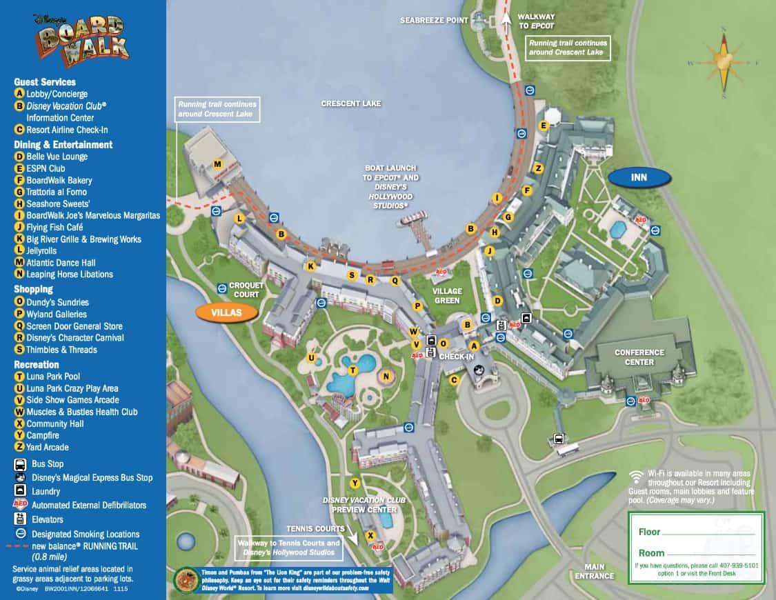 Disney's BoardWalk Inn Map 1