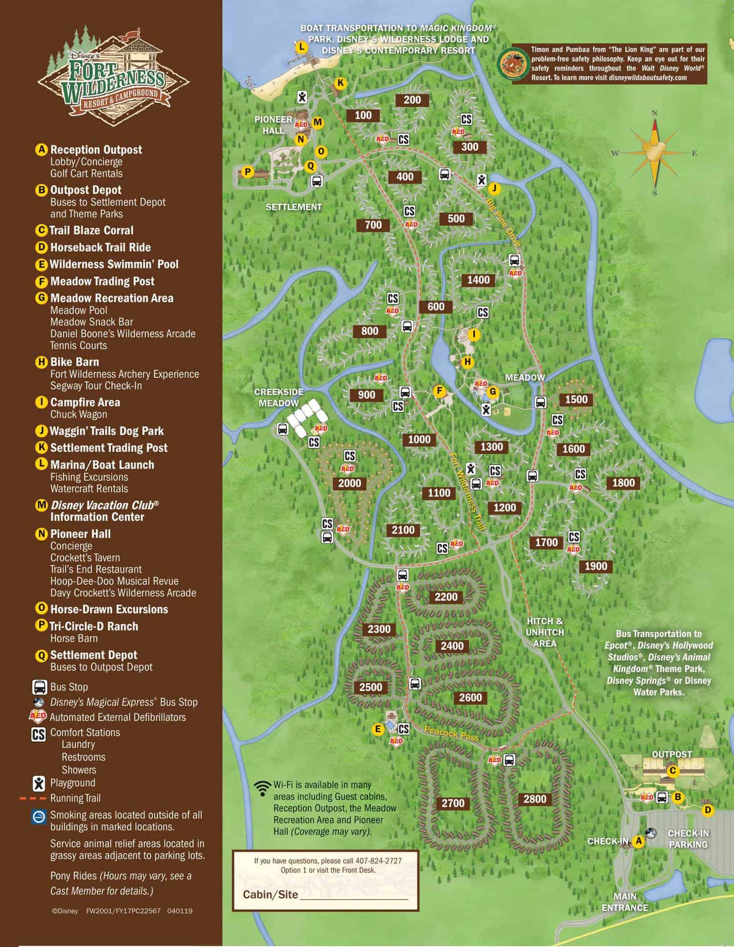 Disney's Fort Wilderness Campgrounds Map 1