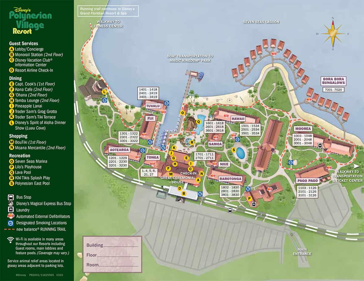 Disney's Polynesian Village Map 2